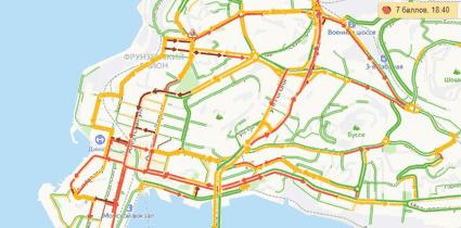 пробки и заторы в городе Владивосток